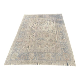 Contemporary Turkish Oushak Thin Pile Rug - 9′11″ × 13′4″ For Sale