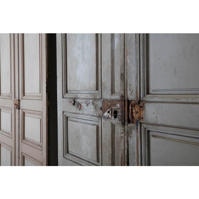 18th and 19th Century French Pair of Louis XV Double Doors in Original Paint For Sale - Image 9 of 12