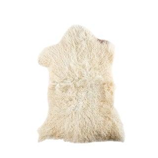 """Contemporary Long Wool Sheepskin Pelt, Handmade Rug - 2'4""""x3'4"""""""