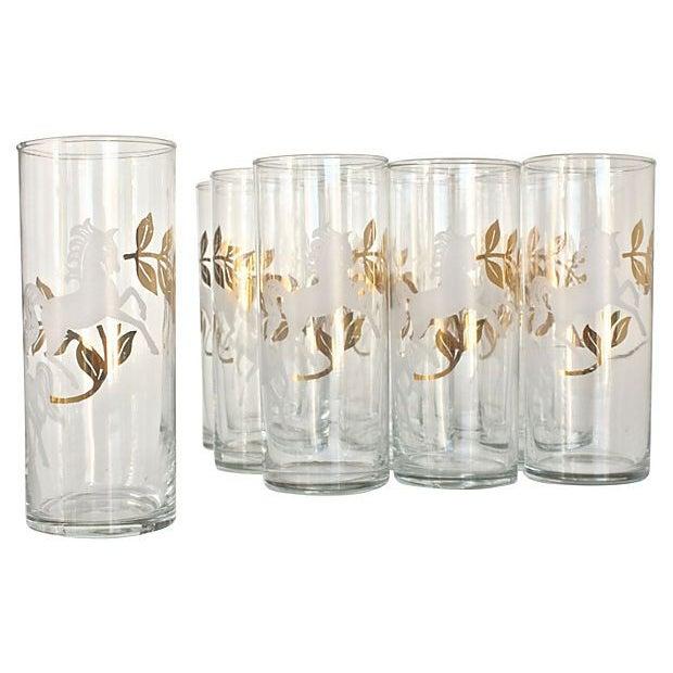 "Mid-Century ""Cavalcade"" Glassware - Set of 10 - Image 1 of 3"