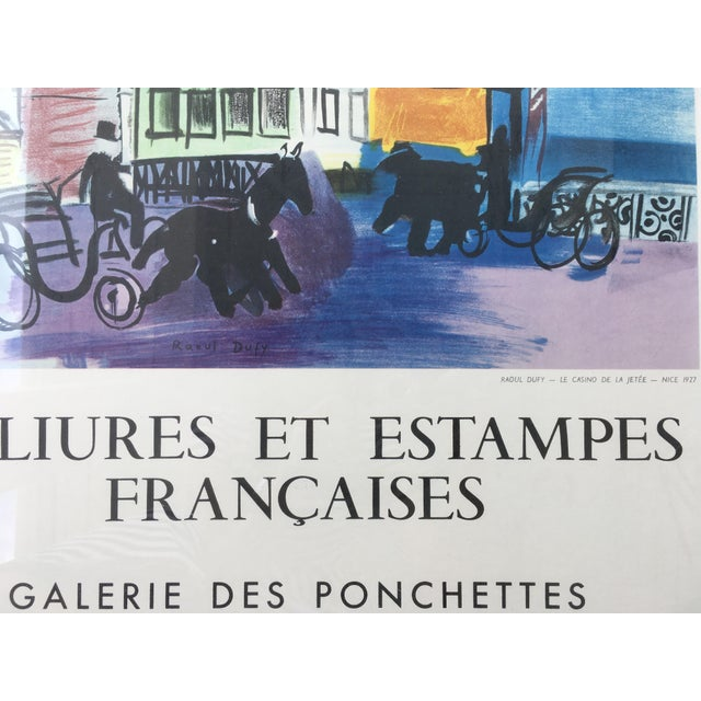 Vintage 1950s French Exhibition Poster by Raoul Dufy For Sale - Image 9 of 10