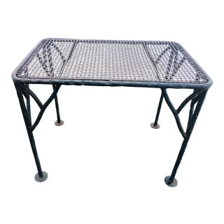 Industrial Wrought Iron Side Table For Sale