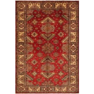 Super Kazak Garish Dewey Blue/Rust Wool Rug - 5'8 X 8'3 For Sale