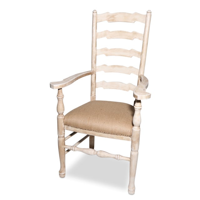 French Country Deconstructed Arm Chair - Image 2 of 3