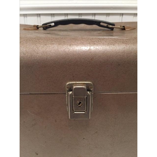 Retro Rustic Industrial Grey Metal Box - Image 10 of 10