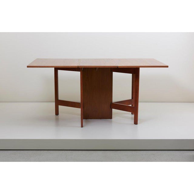 George Nelson Gate-Leg Dining Table Model 4656 by Herman Miller in Walnut For Sale - Image 9 of 13