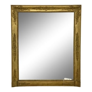 French Empire Style Giltwood Mirror For Sale