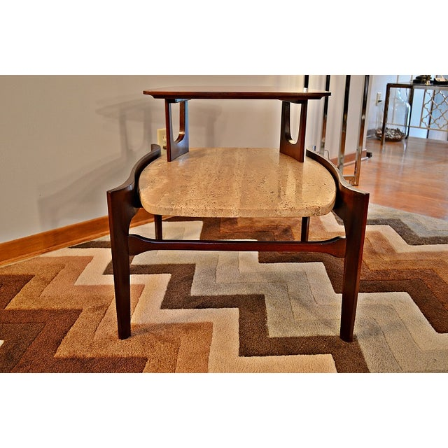 Bertha Schaefer Mid-Century Floating Marble Table - Image 6 of 7