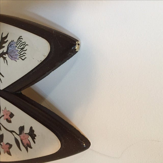 Atomic-Style Floral Wall Plaques - Set of 2 - Image 4 of 8