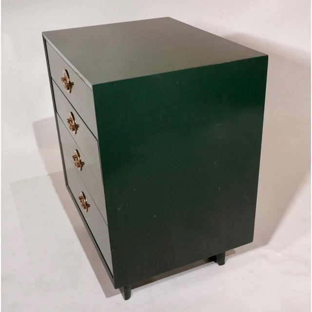 George Nelson for Herman Miller Green Lacquer Pier Chests or Dressers - a Pair For Sale In New York - Image 6 of 8