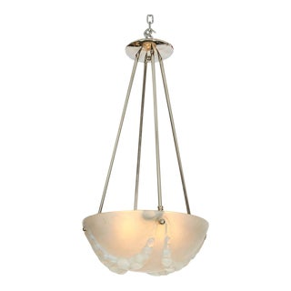 "Rene Lalique ""Villeneuve"" Chandelier For Sale"