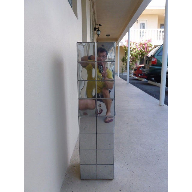 Metal 1970's Vintage Paul Evans Cityscape Style Chrome Patch Pedestal For Sale - Image 7 of 11