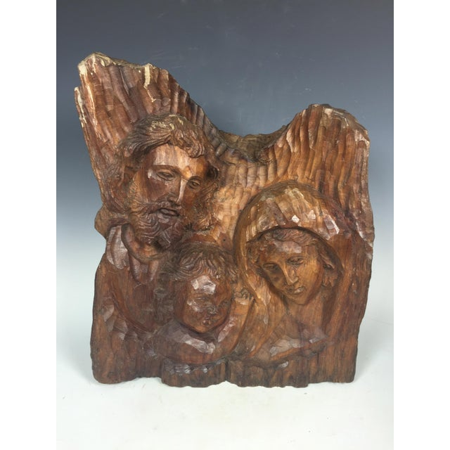 Here we have a beautiful and lovely religious Santos, wooden carving of Holy Family that is made by master craftsmen in...
