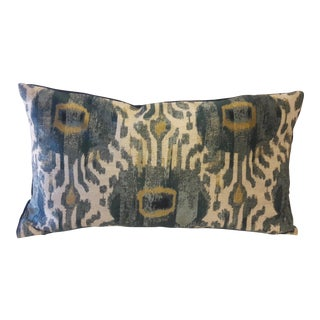 Geometric Ikat Large Accent Pillow Cover For Sale