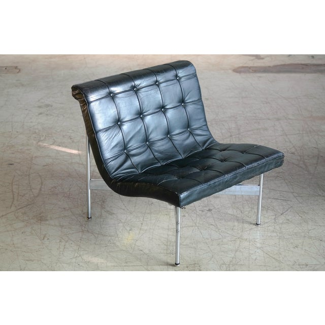 Animal Skin Pair of Original 1950s New York Lounge Chairs by Katavolos, Littell and Kelley For Sale - Image 7 of 8