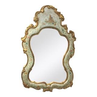 Vintage Italian Gilt Painted Mirror For Sale