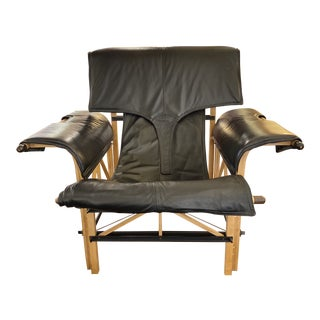 Late 20th Century Roche Bobois Acerbis Leather Lounger For Sale