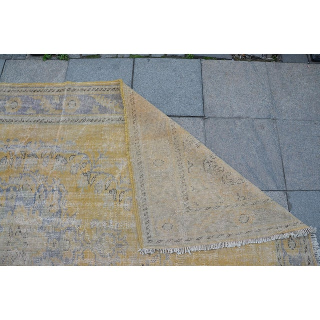 """Textile Tribal Turkish Antique Rug - 71"""" x 109"""" For Sale - Image 7 of 7"""