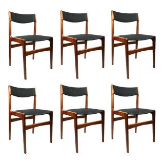 Erik Buch for Anderstrup Møbelfabrik Danish Modern Dining Chairs - Set of 6 For Sale