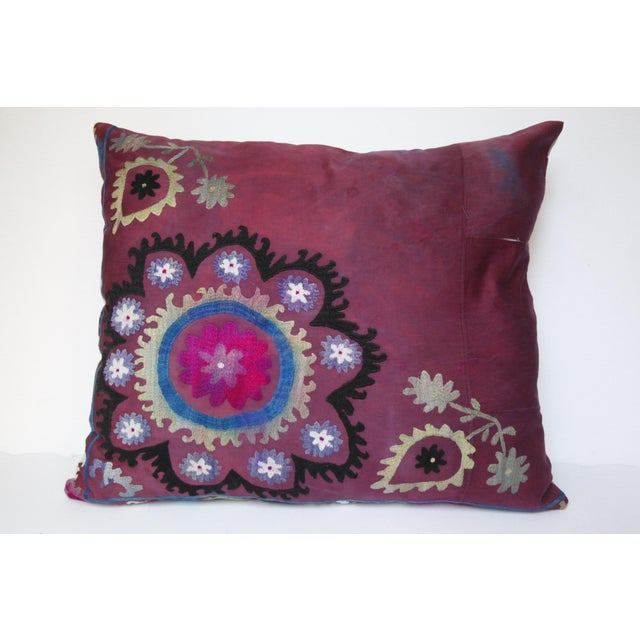 Shabby Chic Vintage Suzani Sofa Throw Pillow Cover For Sale - Image 3 of 11