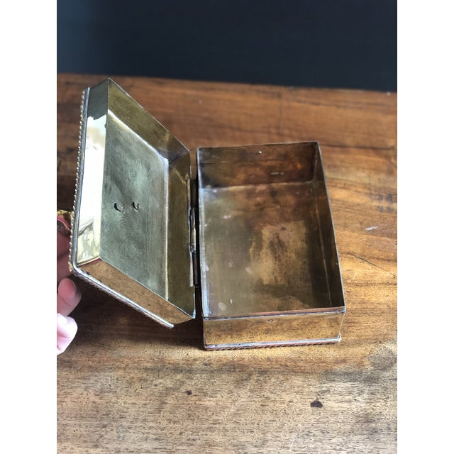 Vintage Elephant Brass Box For Sale - Image 6 of 10