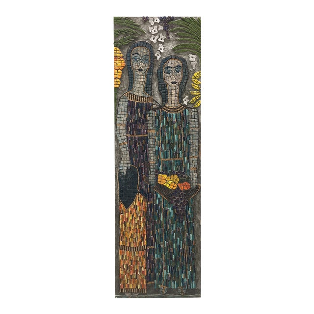 Figurative Mosaic Wall Piece For Sale