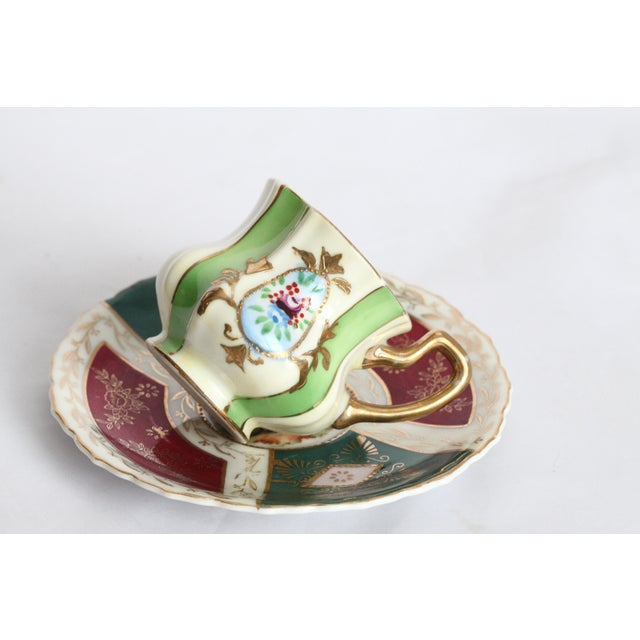 Japanese Gold Leaf Miniature Tea Cup & Saucer - Image 3 of 11