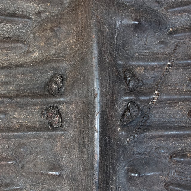 19th Century African Leather Shield For Sale - Image 4 of 11
