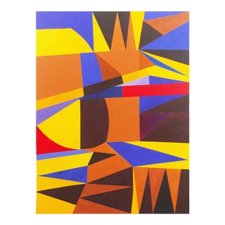 'Geometric Abstract I' by Renee Harwin, Bay Area Abstraction, San Francisco Art Institute For Sale