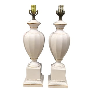 Vintage Urn Shaped Lamps - A Pair