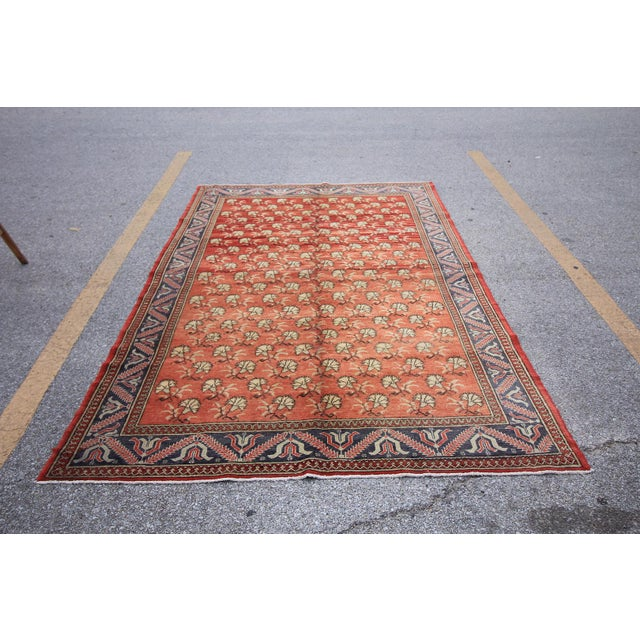 Tribal Anatolian Turkish rug from Mid-20th C. with bold design. It has weaved by Double Knotted technique which makes it...