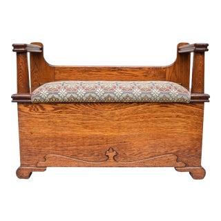 Antique Oak Storage Bench