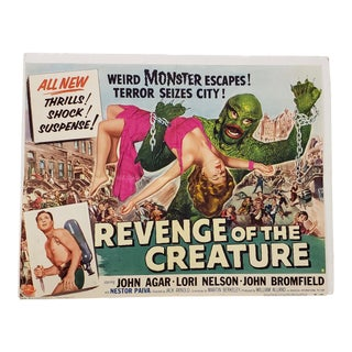 "Vintage ""Revenge of the Creature"" Half Sheet Movie Poster C.1955 For Sale"