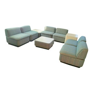 Thonet Sectional With Chrome Banding - Set of 9 For Sale