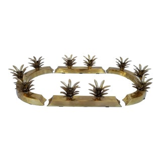 1970s Vintage Brass Pineapple Candle Holders- Set of 4 For Sale