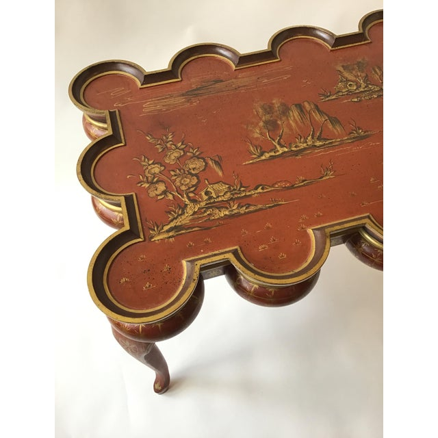 1980s Italian Hand Painted Chinoiserie Coffee Table For Sale - Image 5 of 13