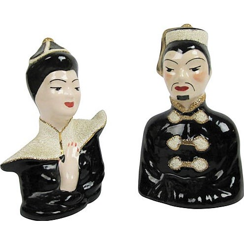 1940's Japanese Ceramic Busts - a Pair - Image 1 of 3