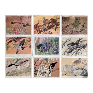 Collection of Original Woodblock Prints by Rakusan Tsuchiya, Set of 9 For Sale