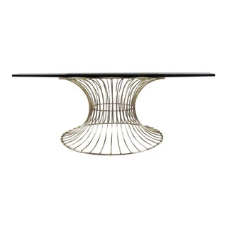 Mid-Century Circular Brass Coffee Table