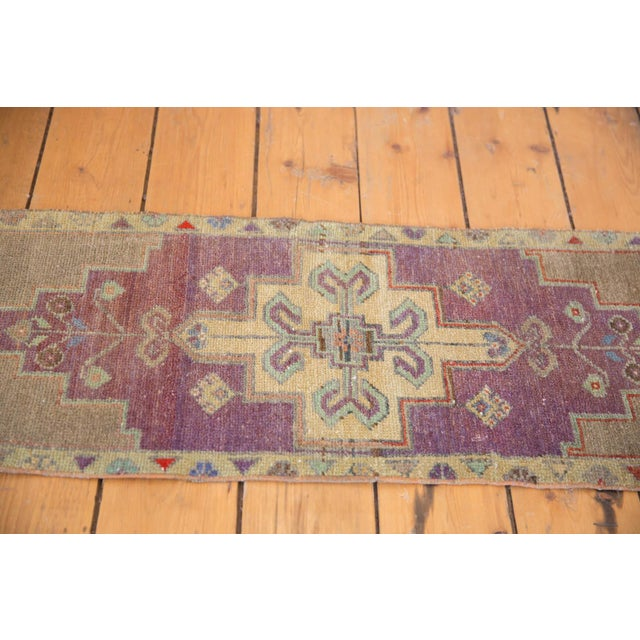 "1970s Vintage Distressed Oushak Rug Mat Runner - 1'2"" X 3'1"" For Sale - Image 5 of 7"