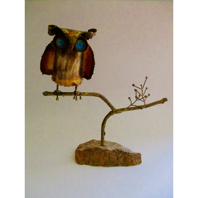 """""""Owl on Branch,"""" Early Sculpture by Curtis Jere - Image 2 of 11"""