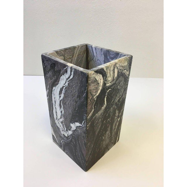 Black Italian Marble Side Table For Sale - Image 8 of 10