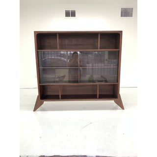 1960s Sculptural Walnut Bookcase Preview