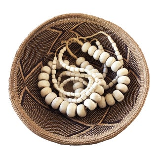 African Jumbo Bone Trading Beads Set of 3 Necklaces For Sale