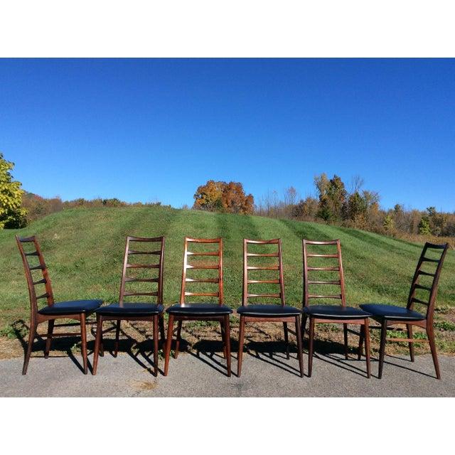 Niels Koefoed Rosewood & Teak Chairs - Set of 6 - Image 9 of 10