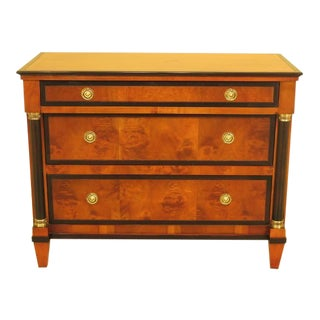 1990s Century Biedermeier Style 3 Drawer Bachelor Chest Commode