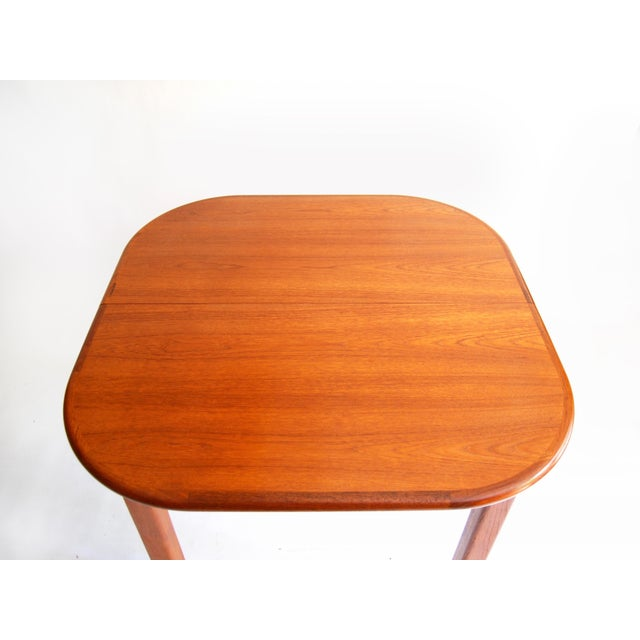 Vintage Mid-Century Modern Teak Extending Dining Table by D-Scan For Sale In New York - Image 6 of 11