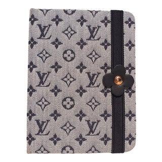 2000s Louis Vuitton Blue Mini Lin Idylle Notebook For Sale