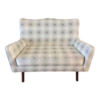 """Jonathan Adler Linen Fabric Upholstered """"Gig"""" Settee"""