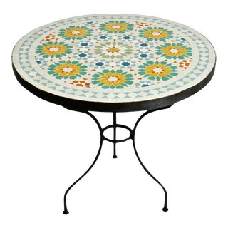 "24"" Round Mosaic Outdoor Table For Sale"